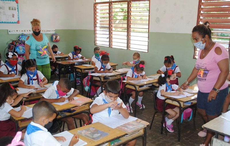 El 97% de los alumnos retomó sus clases presenciales, al comprobar las familias el rigor en las medidas / Foto: Humberto Lister